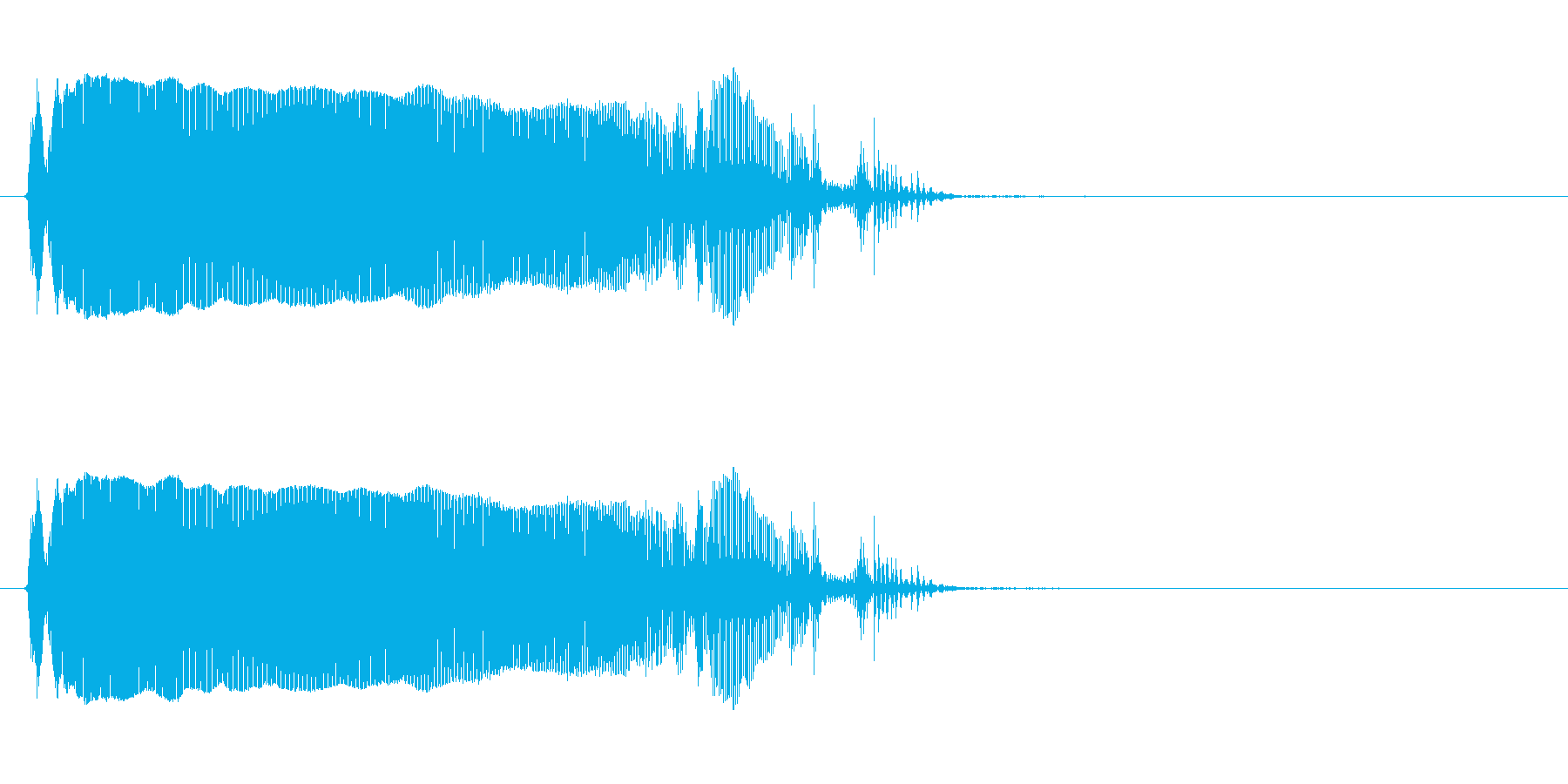 トロンボーン:ロングスライドダウン...の再生済みの波形