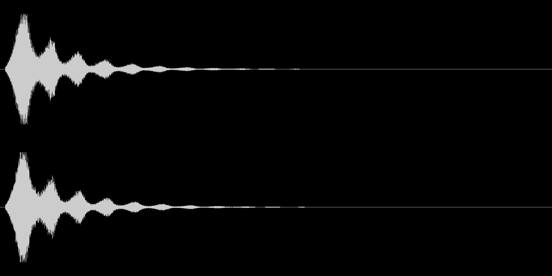 レーザー音-157-2の未再生の波形
