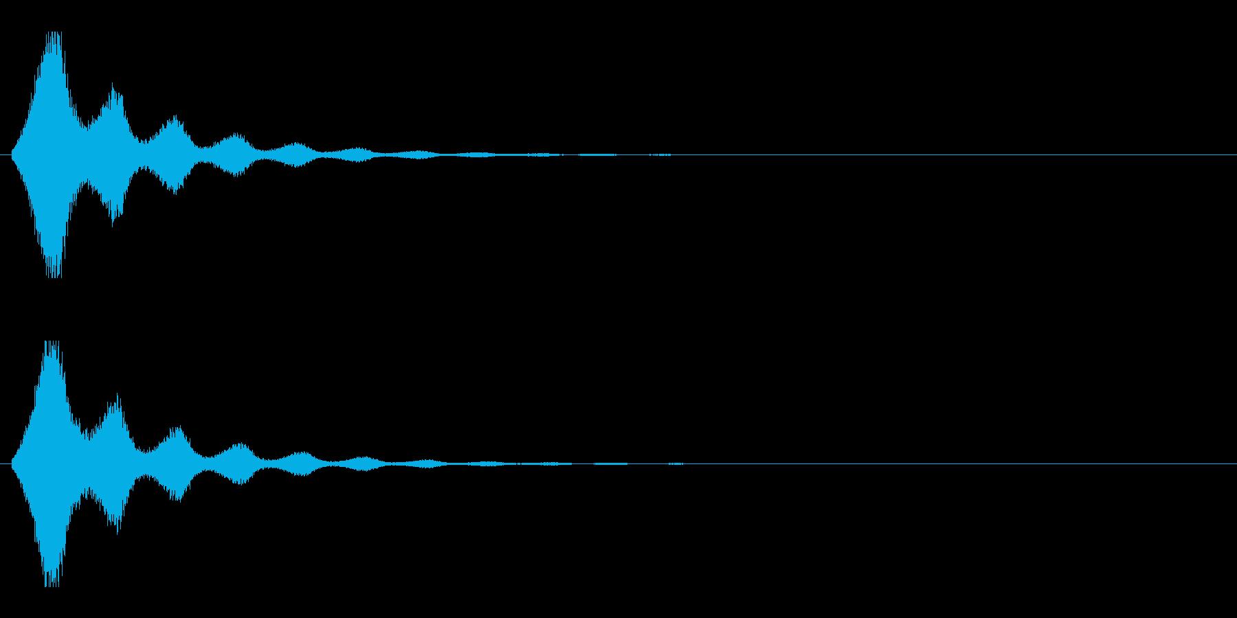 レーザー音-157-2の再生済みの波形