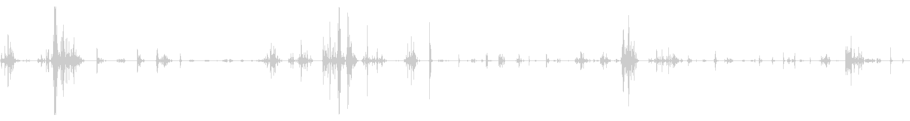猫が走り回っている音などの未再生の波形