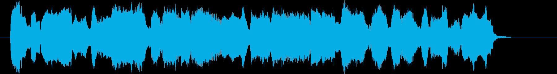 のどかな三拍子のオーボエの曲の再生済みの波形
