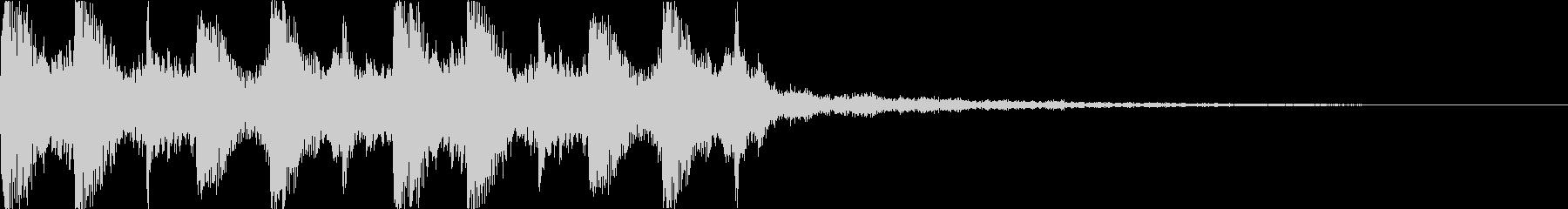 現代的シンセのEDMジングルの未再生の波形