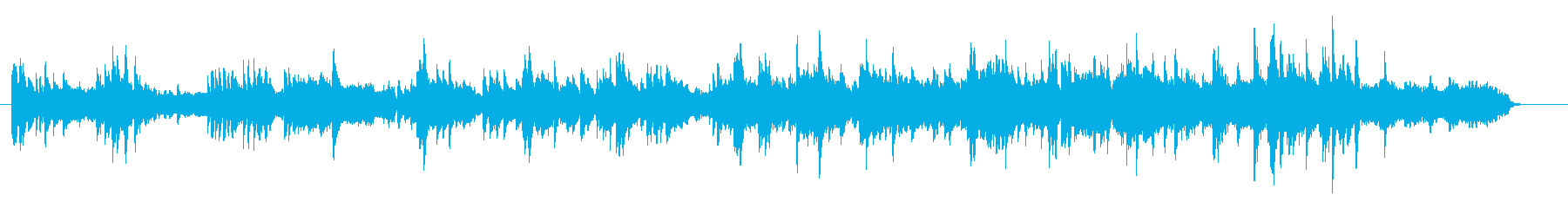 ピアノとストリングスの美しい旋律の再生済みの波形