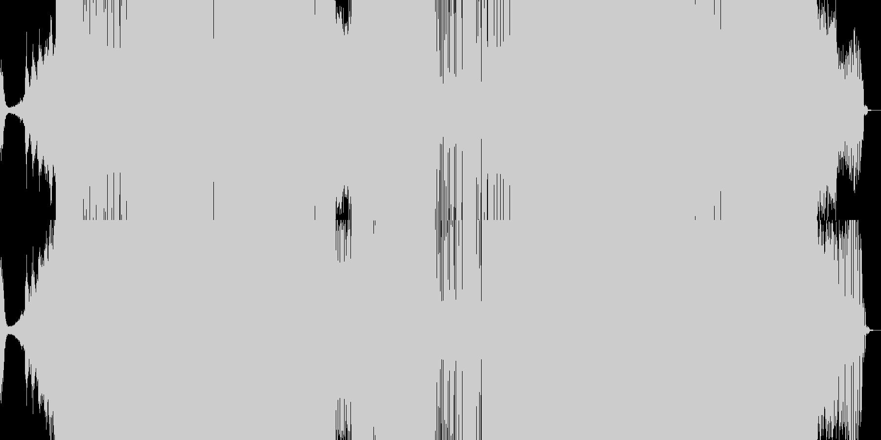 幻想的なイメージからのダンス曲の未再生の波形