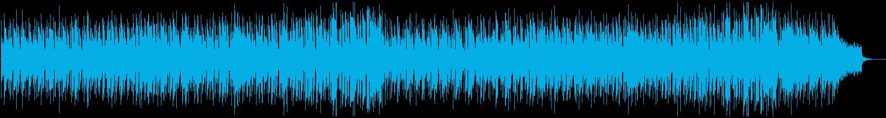 落ち着いた雰囲気の日常用BGMの再生済みの波形