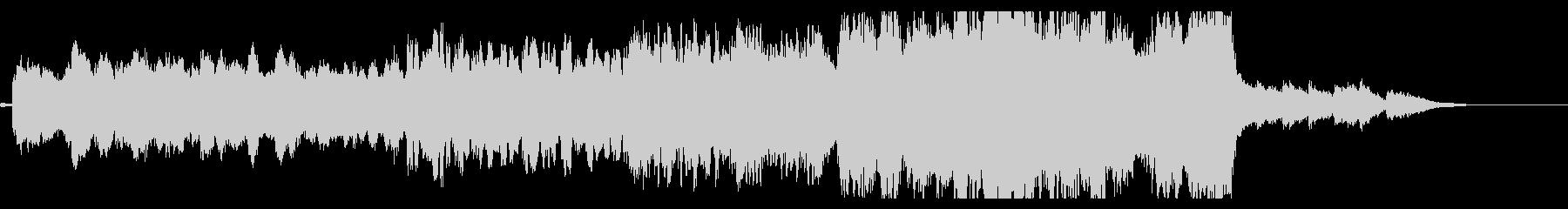 ホルン、フルート主体の復興イメージソングの未再生の波形