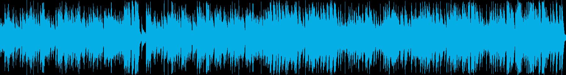 ラテンジャズを基とする軽快なポップスの再生済みの波形