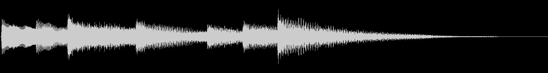 【生演奏】心休まるピアノジングルの未再生の波形
