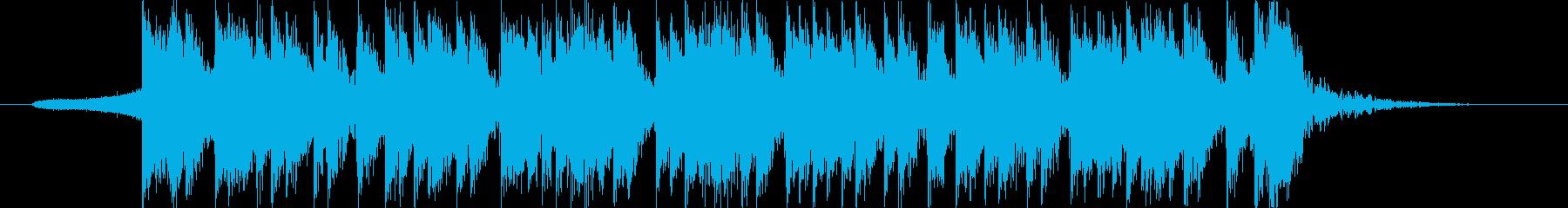 迫力のある太鼓2の再生済みの波形