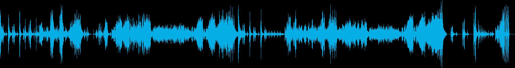 ベートーヴェンピアノソナタ悲愴第一楽章の再生済みの波形