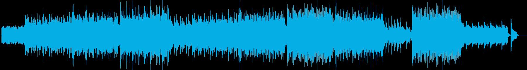 流麗で感動的モダンクラシカルオーケストラの再生済みの波形
