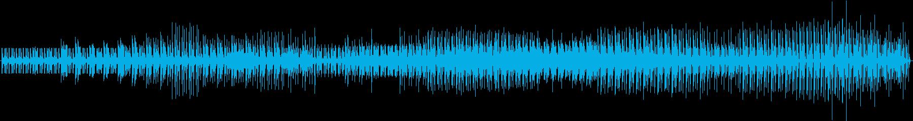 リズムのかっこいいユニークで楽しげな曲の再生済みの波形