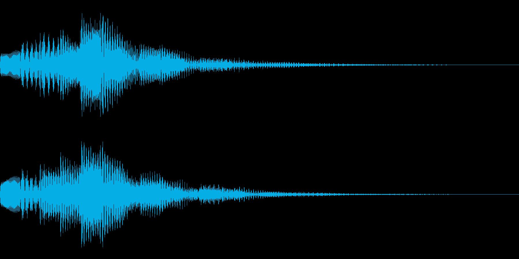 ぽろろん(決定音・アラート)の再生済みの波形