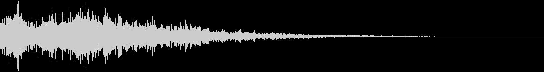 プリューンリュン(ボタン音・プッシュ音)の未再生の波形