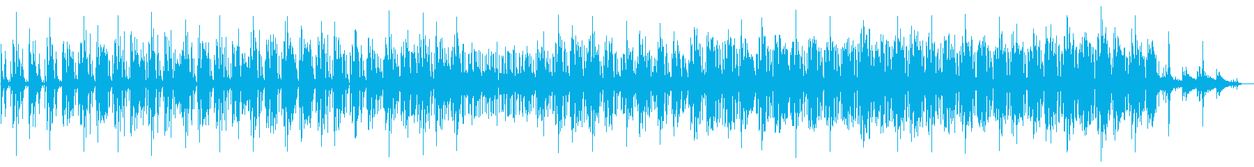 緊迫感とヘビーさのあるミニマルテクノの再生済みの波形