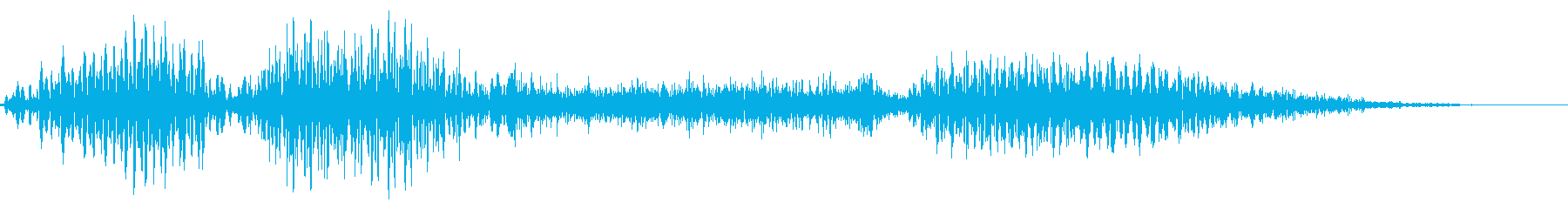 「いらっしゃい」システムボイスにの再生済みの波形