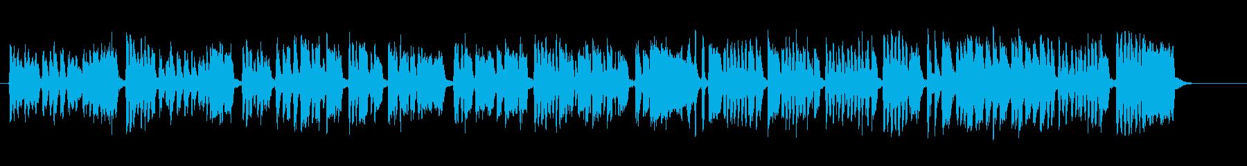 元気で明るいシンプルな合唱団コーラスの再生済みの波形
