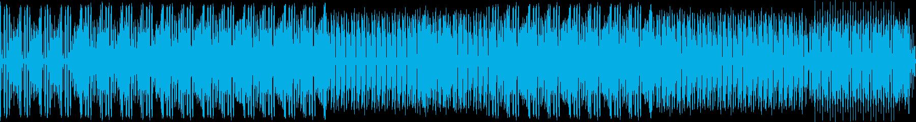 緊張感、疾走感のあるBGMの再生済みの波形