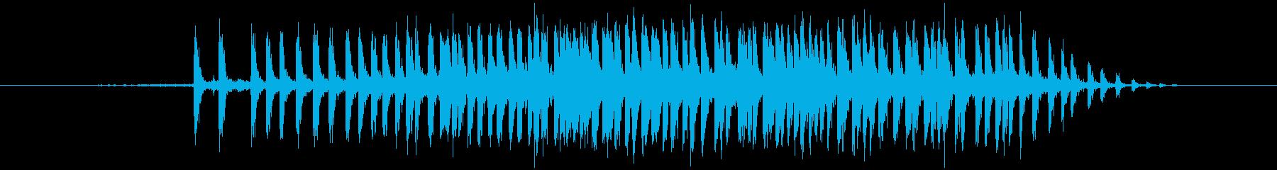 セロハンテープ等 伸ばす(ビィィィッ)の再生済みの波形