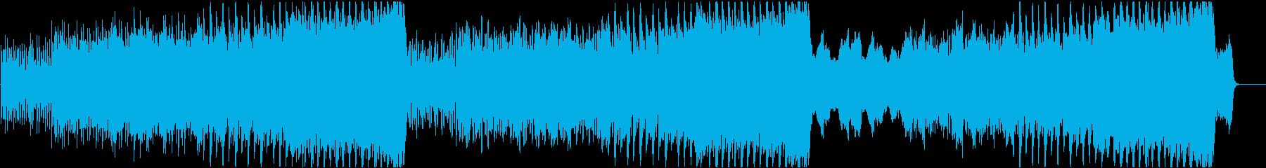 明るく元気づけられる心温まるメロディの再生済みの波形