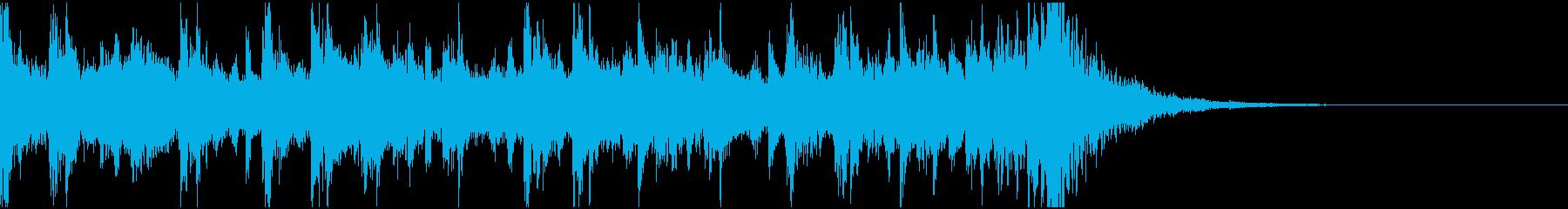 ピアノ、フルオーケストラ、パーカッ...の再生済みの波形
