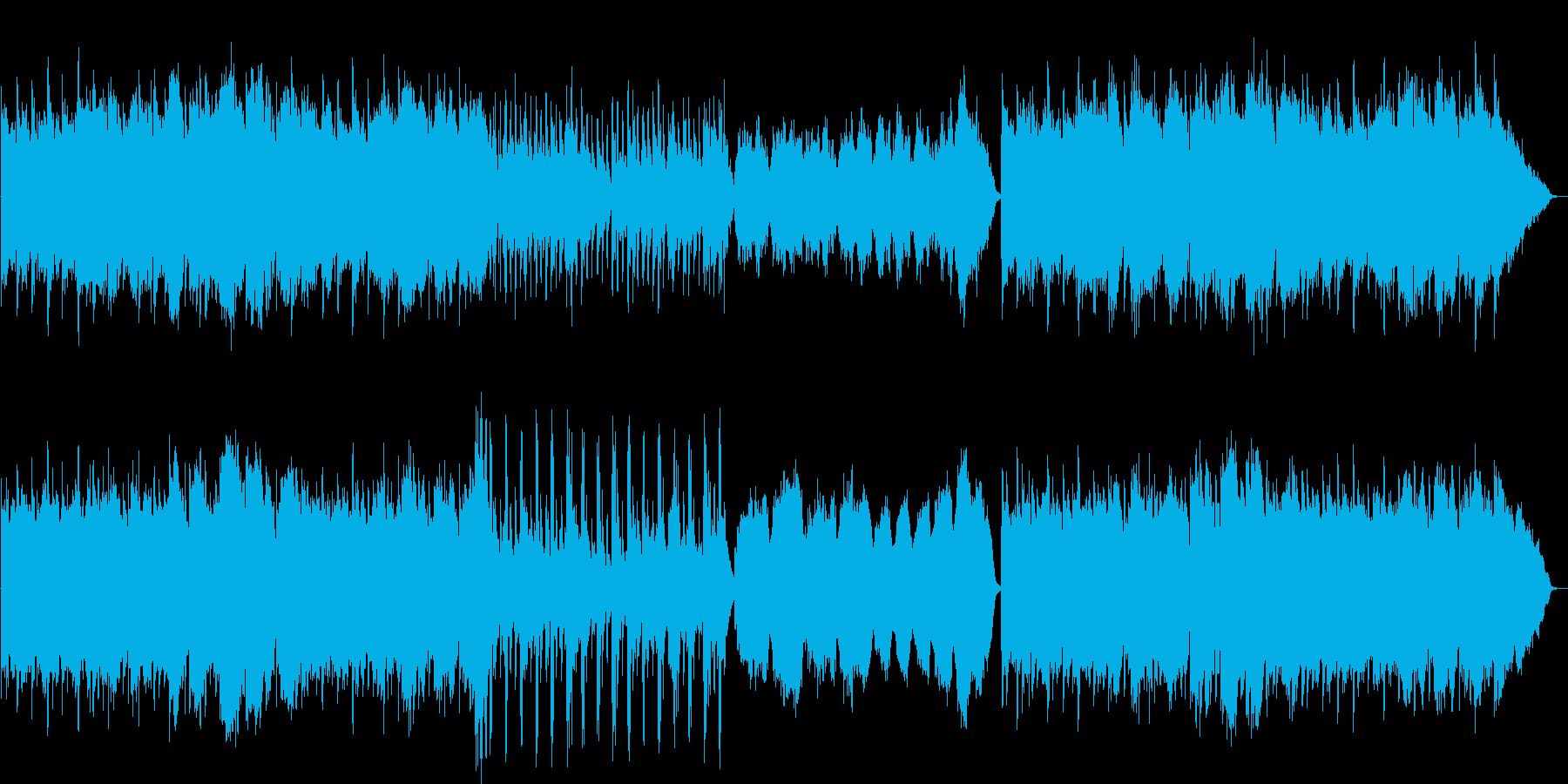 明るく陽気なメロディのワルツの再生済みの波形