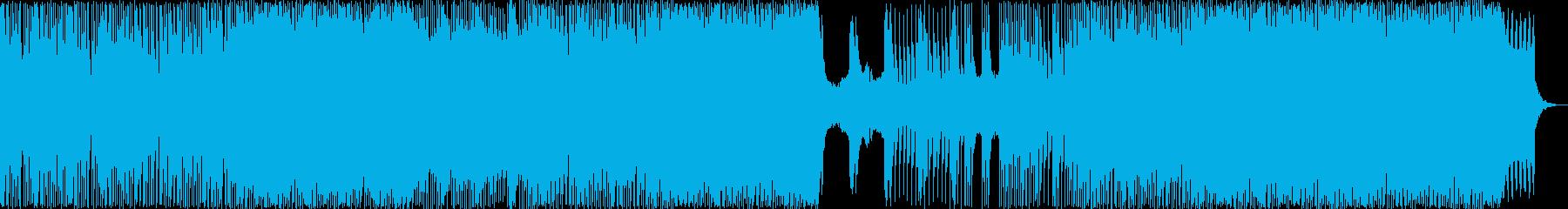 ハードな津軽三味線 和風EDMの再生済みの波形