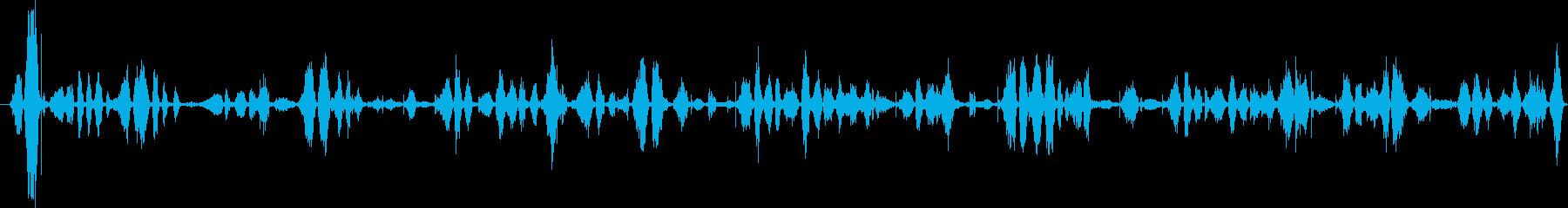 ファインポイントペン:ライティング...の再生済みの波形