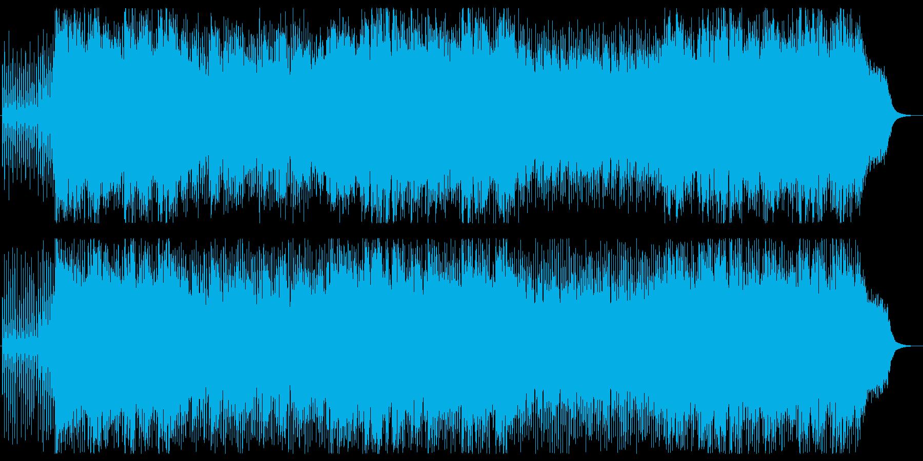 シャフルしたポップの再生済みの波形