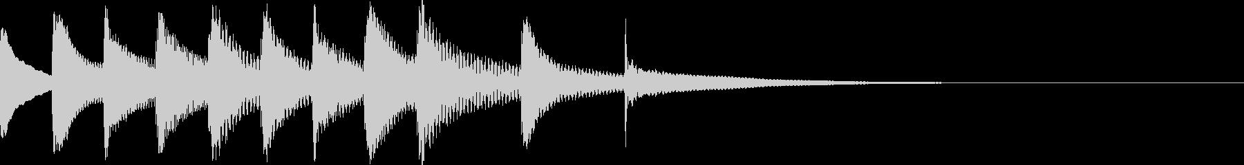 コミカルな動きに合わせたメルヘンチックの未再生の波形
