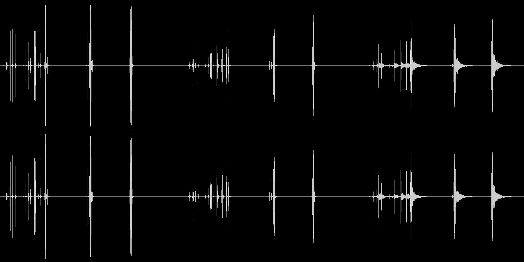 テープ、ショートプル、3バージョン...の未再生の波形