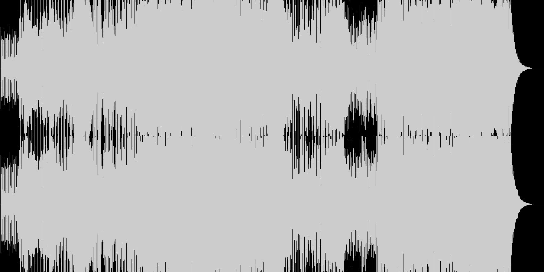 ファンク要素のあるエレクトロの未再生の波形