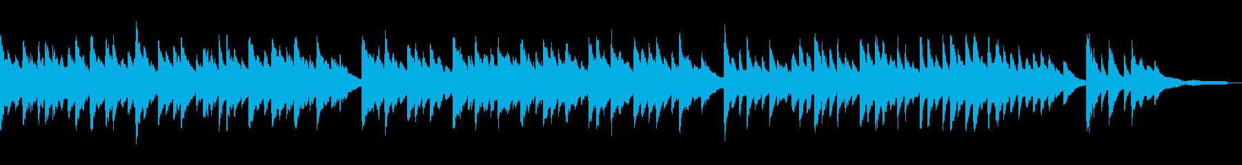 3拍子のゆったりピアノバラードの再生済みの波形
