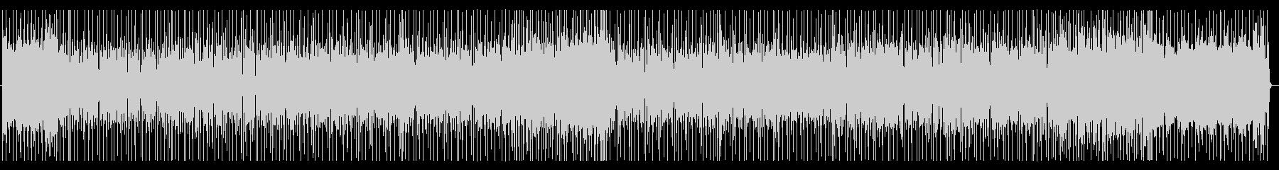 未来感あふれるファンキーなロックBGMの未再生の波形