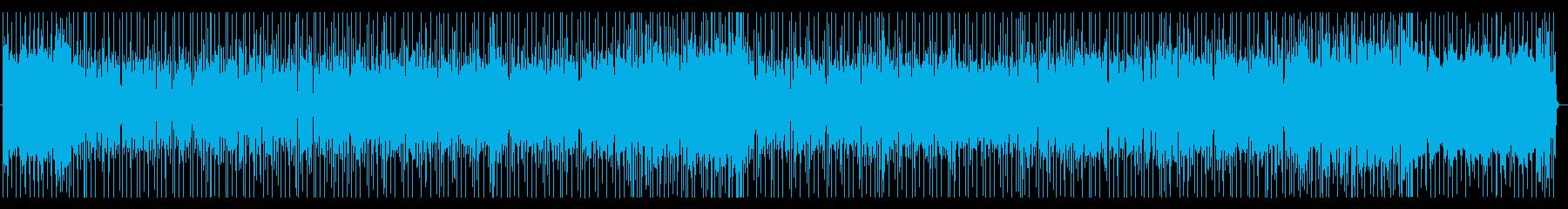 未来感あふれるファンキーなロックBGMの再生済みの波形