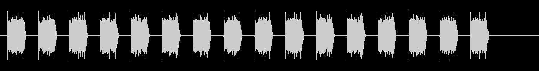 アラートサイレン(リバーブなし)の未再生の波形