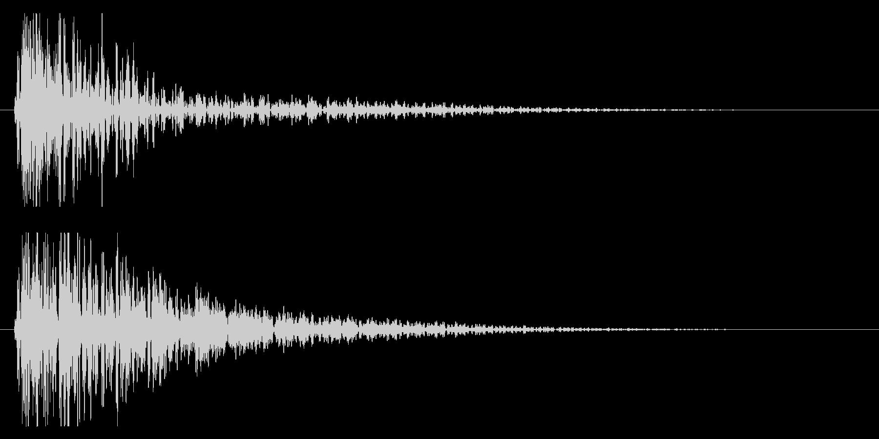 ドン!(迫力ある太鼓の効果音/和風)04の未再生の波形