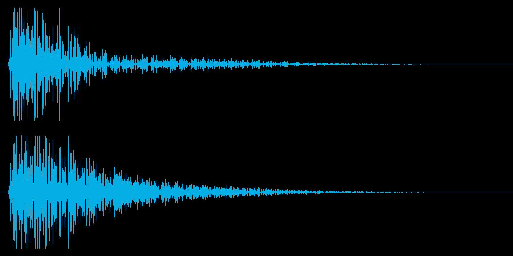 ドン!(迫力ある太鼓の効果音/和風)04の再生済みの波形