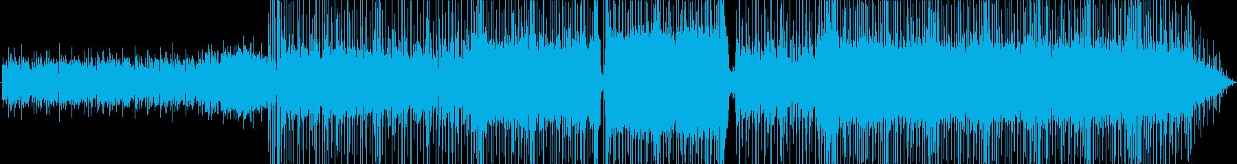 背景をポップします。ロックギターリフの再生済みの波形