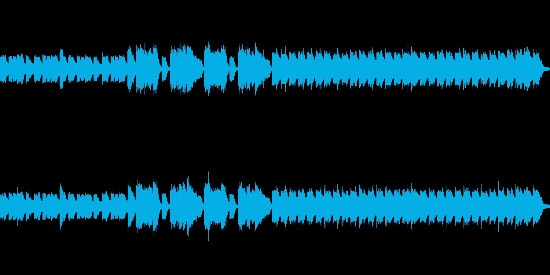 かわいい楽しいほのぼのファミコン風な曲の再生済みの波形