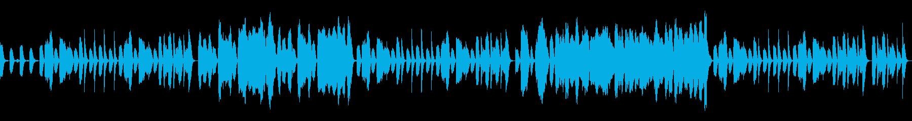 ほのぼのとした作業用BGMの再生済みの波形