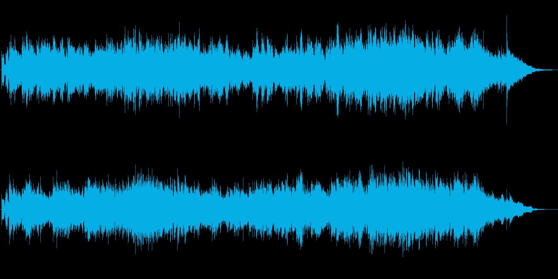 ギターとシンセのほのぼのとしたジングルの再生済みの波形