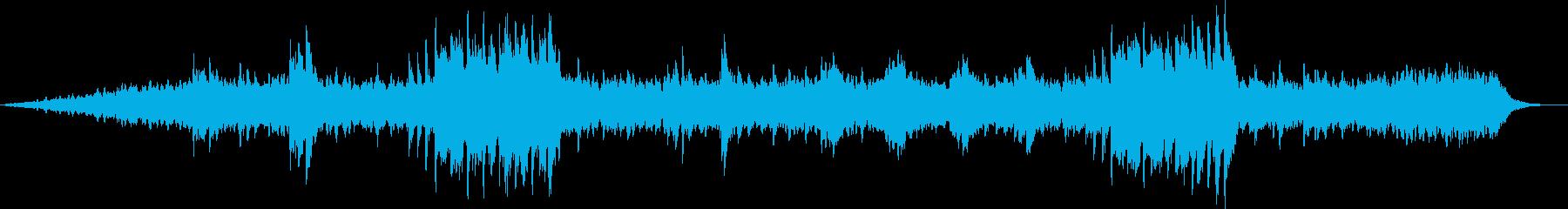 美しく奏でるピアノのヒーリングの再生済みの波形