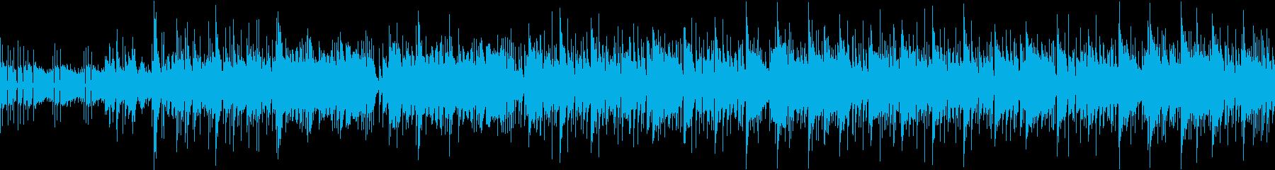 スラップベースが主張している曲の再生済みの波形