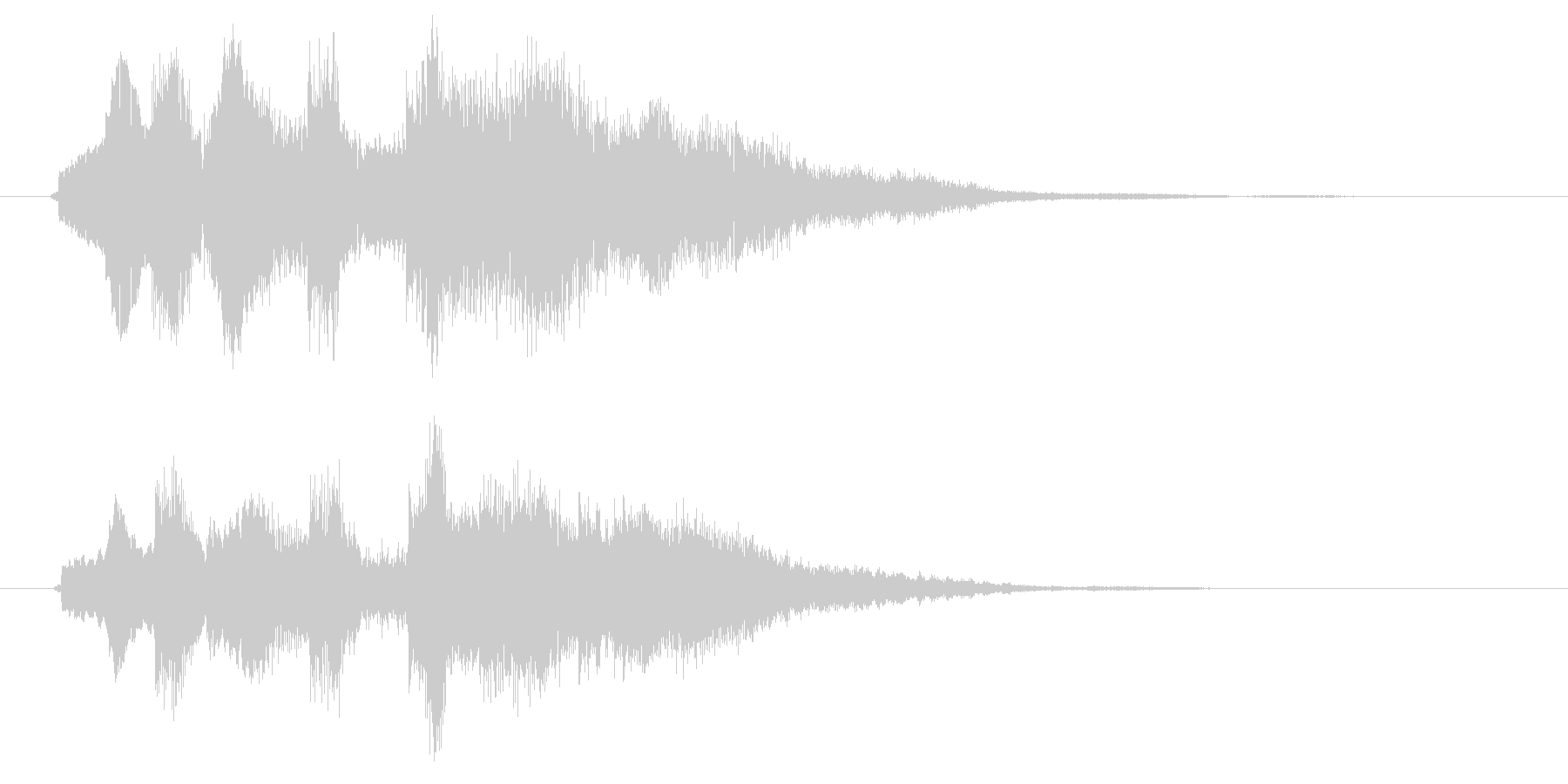 12弦ギター風サウンドロゴの未再生の波形
