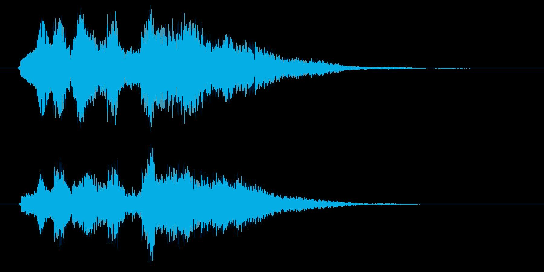 12弦ギター風サウンドロゴの再生済みの波形