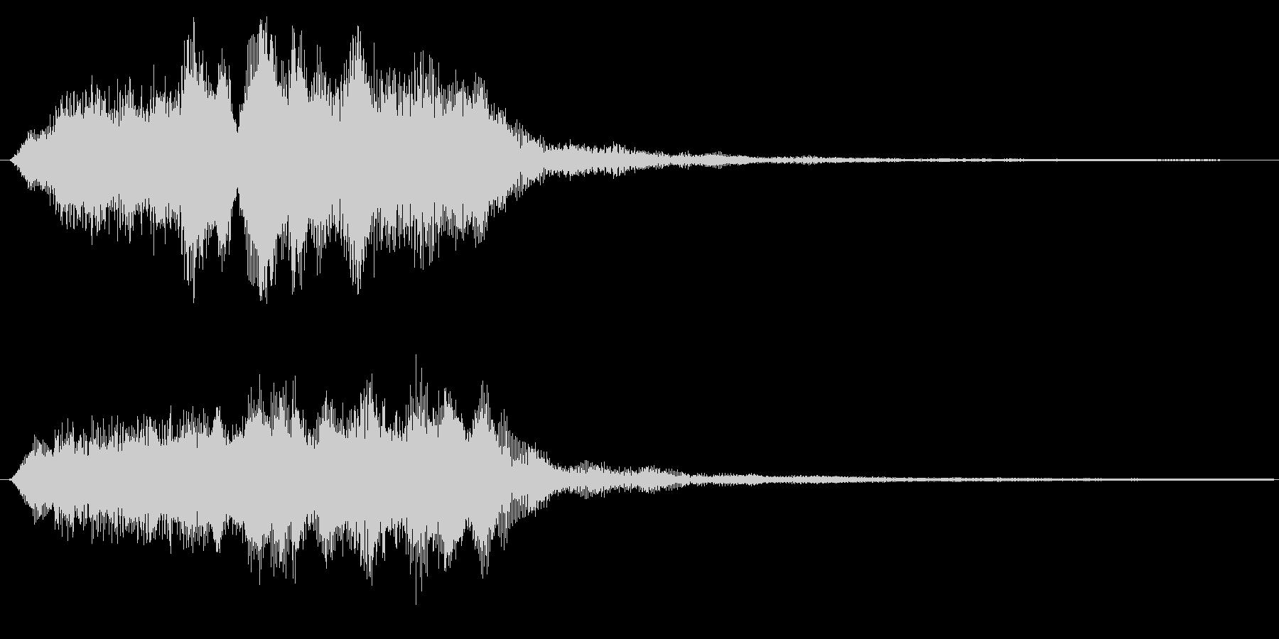 バイオリンの場面転換 アイキャッチ 切替の未再生の波形