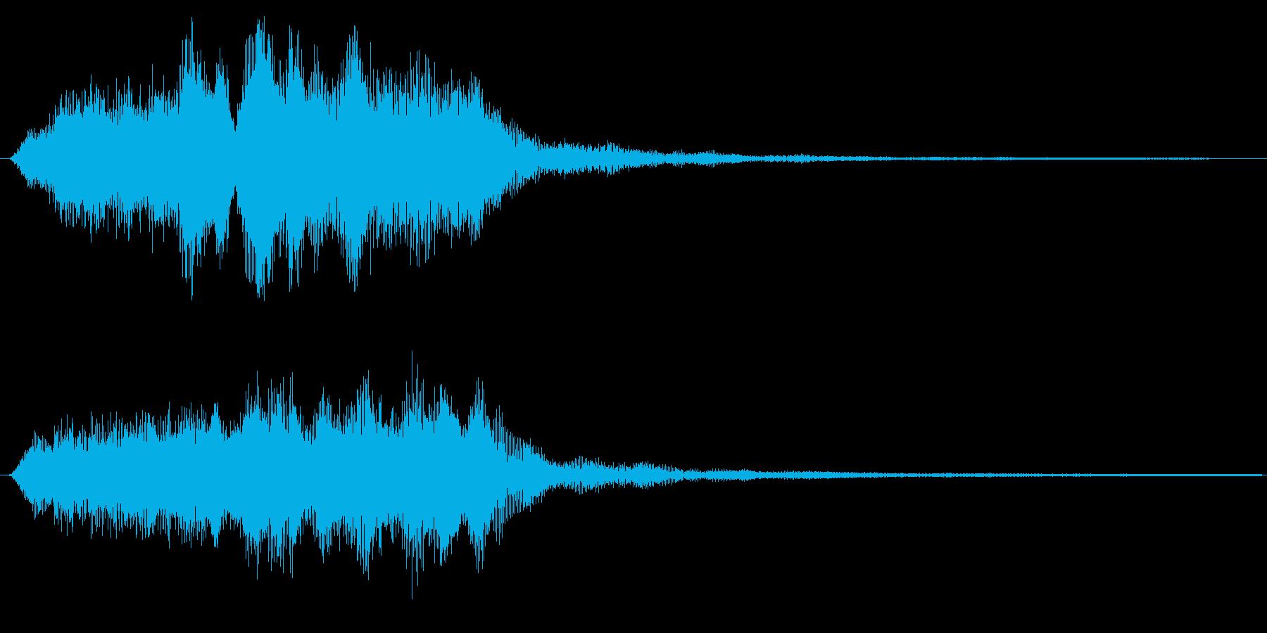 バイオリンの場面転換 アイキャッチ 切替の再生済みの波形