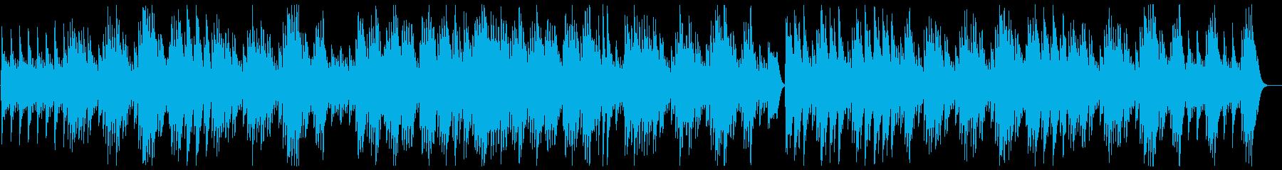 ふんわり心地のいいスローなオルゴールの曲の再生済みの波形