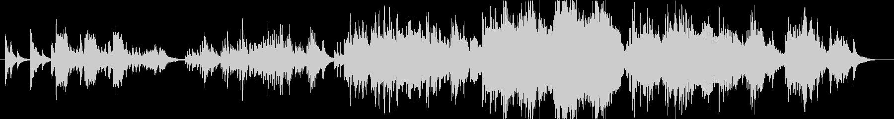 映像的なピアノとストリングス。の未再生の波形
